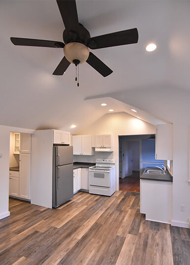 newly remodeled kitchen in cape cod home