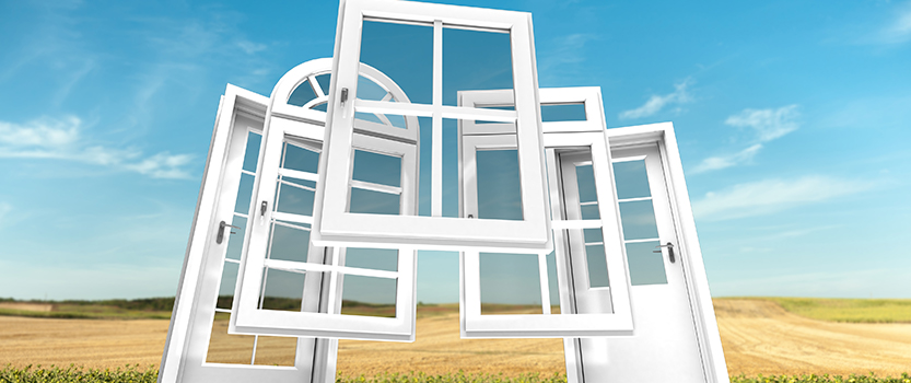 illustration of windows and doors